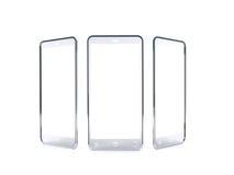 Uno smartphone trasparente di vetro futuristico Fotografia Stock Libera da Diritti