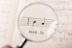 Uno spartito di musica Fotografie Stock
