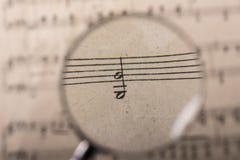 Uno spartito di musica Fotografia Stock