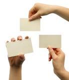 Uno spazio in bianco della scheda Fotografia Stock Libera da Diritti