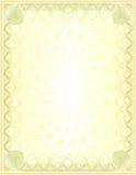 Uno spazio in bianco dorato di lusso Fotografia Stock Libera da Diritti