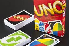 UNO-Spielkarten Stockfoto