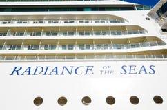 Uno splendore del ` della nave da crociera del ` dei mari l'immagine del ` s della finestra esteriore in primo piano, a Sydney Ha fotografia stock libera da diritti
