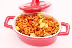 Uno spuntino di riso Immagine Stock