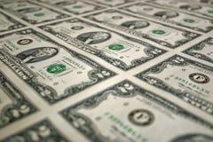 Uno strato di due banconote in dollari 3 Immagini Stock Libere da Diritti