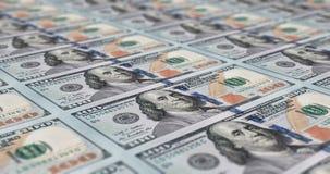 Uno strato di 100 note del dollaro Fotografia Stock Libera da Diritti