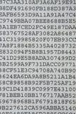 Uno strato segreto del documento di codice della lettera Fotografia Stock