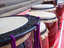 Uno strumento di percussione giapponese tradizionale Taiko Fotografia Stock