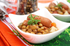 Uno stufato delle lenticchie Immagini Stock Libere da Diritti