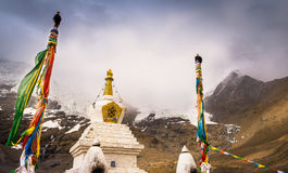 Uno stupa ad area scenica della montagna di Silima Fotografia Stock