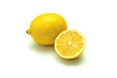 Uno y mitad del limón Imágenes de archivo libres de regalías