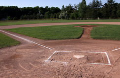 Unoccupied Baseball Field Stock Images