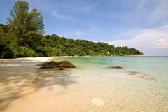 Unoccupied beach in Malaysia Royalty Free Stock Images