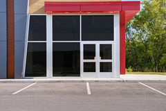 Unoccupied generic store front. Business or professional office space Royalty Free Stock Image