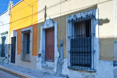 Unoccupied houses in Mexico town Stock Photo