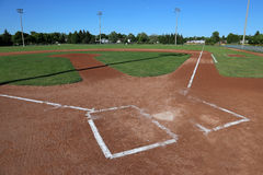 Unoccuppied Baseball Field Stock Images