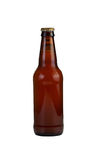 Unopened Bottle of Beer Isolated on White Stock Photo