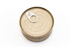 Unopened can of tuna stock photos