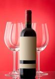 Unopened wine bottle Stock Photos