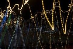 Unordentliche Lichteffekte der abstrakten Bewegungsunschärfe Lizenzfreie Stockfotos