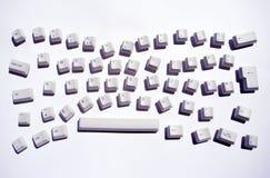 Unordentliche Tastatur lizenzfreie stockfotografie