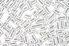 Unordentliche Wörter Stockfotos