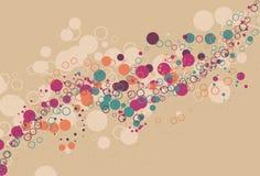 Unordentlicher wirbelnder abstrakter Kreisluftblasenhintergrund Lizenzfreies Stockbild