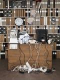 Unordentliches Büro Stockfotografie