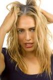 Unordentliches Haar Stockfoto