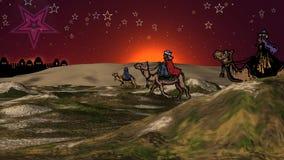 Unos de los reyes magos de la Navidad almacen de metraje de vídeo