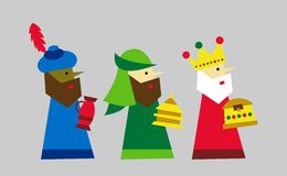 Unos de los reyes magos vectorizados stock de ilustración