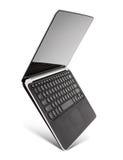 Unosić się aluminiowego laptop, odizolowywającego na białym tle Fotografia Stock