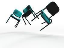 Unosić się krzesła royalty ilustracja