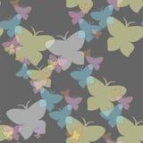 Unosić się motyla bezszwowego wzór Fotografia Stock
