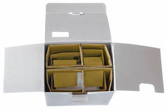 Unpack box. Open box isolate Stock Image