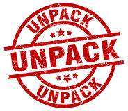 Unpack stamp Royalty Free Stock Photos