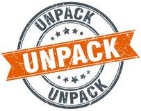 Unpack round grunge  stamp Stock Photo