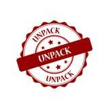Unpack stamp illustration Stock Image
