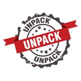 Unpack stamp. sign. insignia Royalty Free Stock Photography