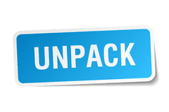Unpack sticker Royalty Free Stock Images