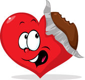 Unpacked eaten chocolate heart - vector Stock Photography