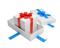 Unpacked gift with another inside Royalty Free Stock Photo