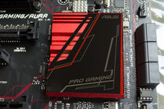 Unpacked new motherboard ASUS. Royalty Free Stock Photos