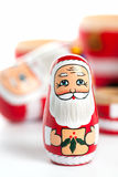 Unpacked Small Christmas Nesting Doll Stock Images