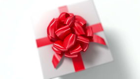 Free Unpacking A Gift. Beautiful 3d Animation With A Depth Of Field. Stock Photography - 56540282