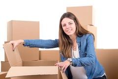 Unpacking Stock Image