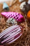 Unpacking Christmas tree decorations with blurred background Royalty Free Stock Photo