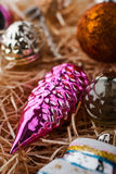 Unpacking Christmas tree decorations close -up Stock Image