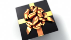 Unpacking a Gift. Beautiful 3d animation with a depth of field. Full HD (version with a black gift. See more animations with presents in my portfolio stock video footage
