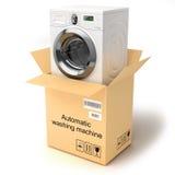 Unpacking the washing machine Stock Images